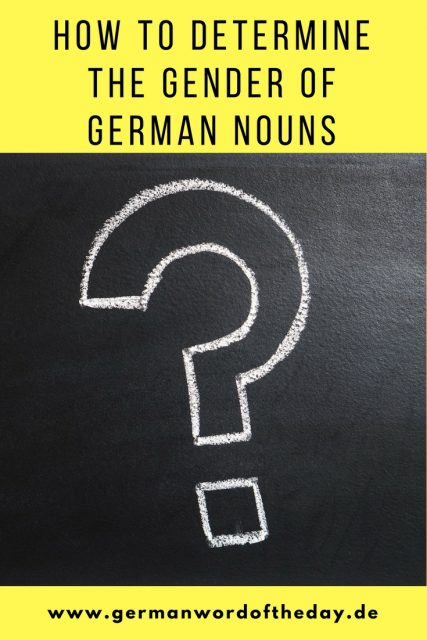 How to find out the gender of German nouns