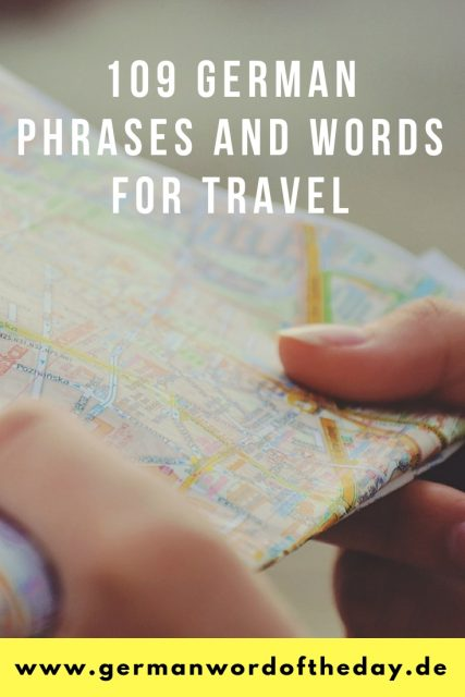 German phrases for travel