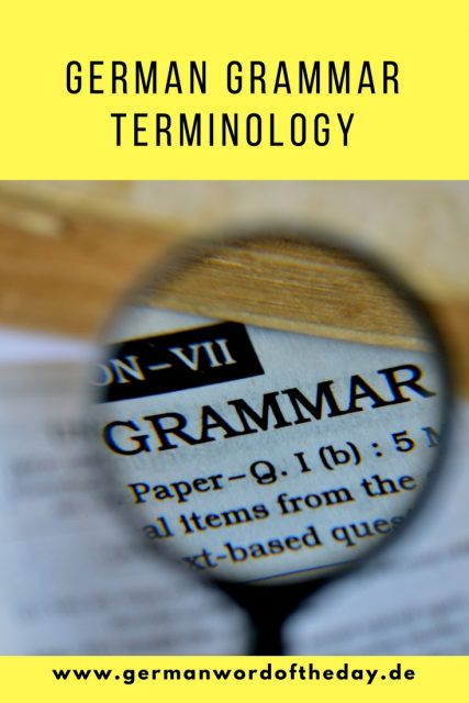 german grammar terminology explained for beginners