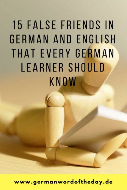 15 false friends in German and English for beginners