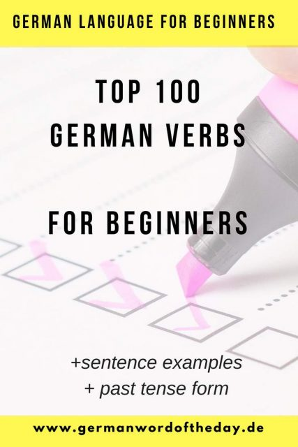most used german verbs for beginners