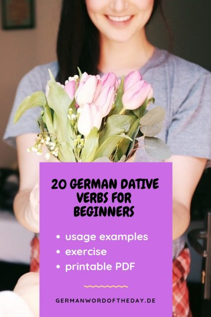 German dative words list pdf exercise