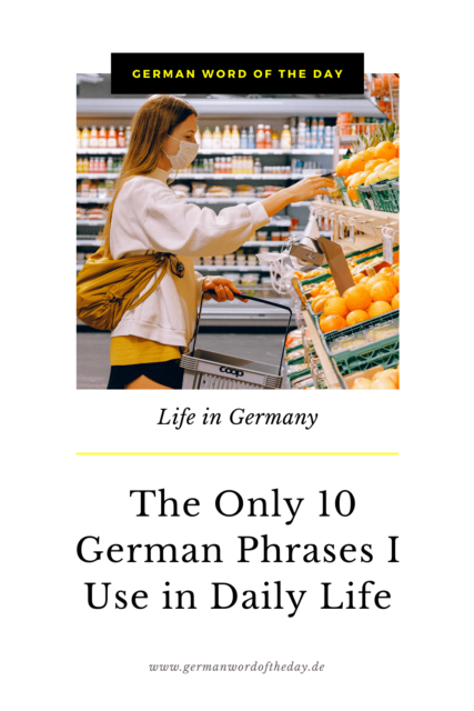 Daily German phrases for everyday life